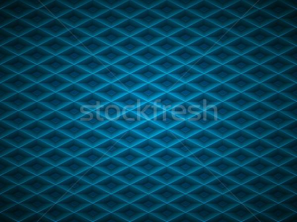 Vector blue embossed pattern plastic grid background. Technology diamond shape cell geometric Stock photo © Iaroslava