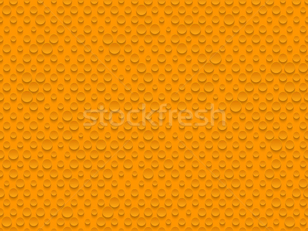 Abstract industrial realistic embossing volume cylinder texture, depressed circles orange background Stock photo © Iaroslava