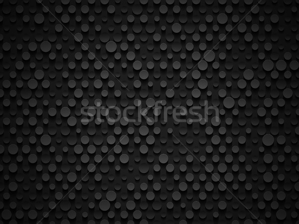 Abstract industrial realistic embossing volume cylinder texture, depressed circles black background Stock photo © Iaroslava