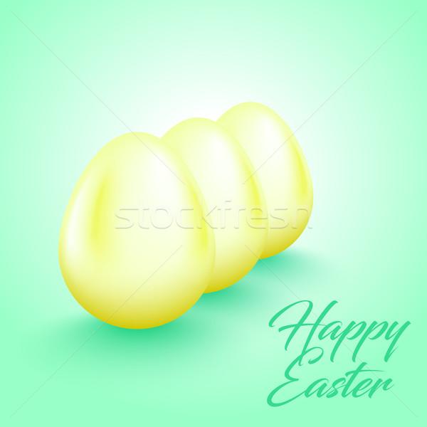 ışık sarı yumurta taze nane parlak Stok fotoğraf © Iaroslava