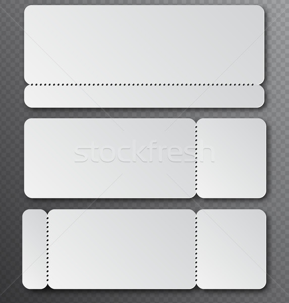 White clear ticket template with tear-off element isolated on transparent background. Music, Dance Stock photo © Iaroslava