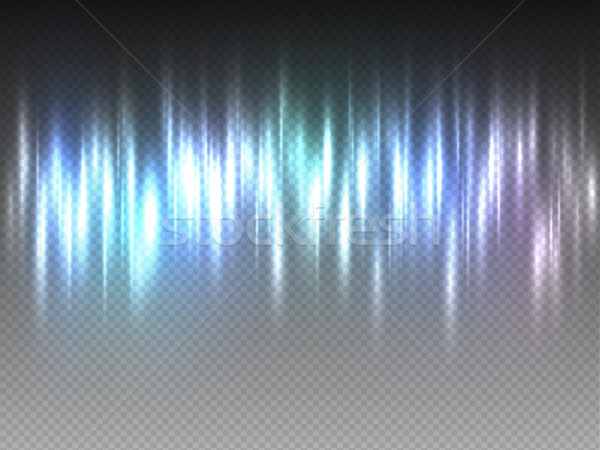 Vertical rainbow colorful radiance glow pulsing rays on transparent background. Vector abstract Stock photo © Iaroslava