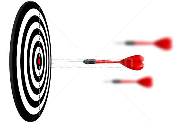 Vector Rood dart pijlen vliegen target Stockfoto © Iaroslava