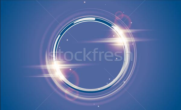Resumen lujo cromo metal anillo vector Foto stock © Iaroslava