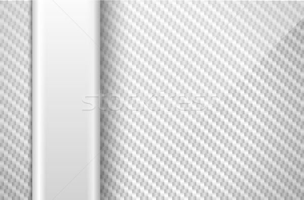 Vector silver white carbon fiber background with light vertical plastic line element Stock photo © Iaroslava