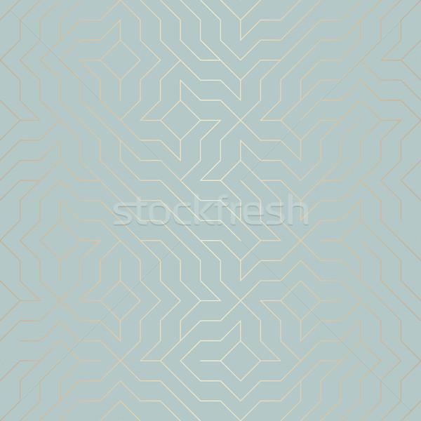 Sem costura vetor geométrico dourado linha padrão Foto stock © Iaroslava