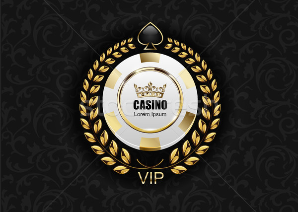 Vip poker luxe witte gouden chip Stockfoto © Iaroslava
