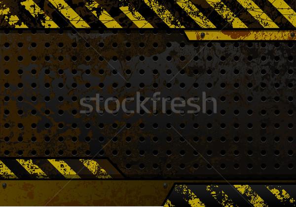 Paslı demir siyah plaka tasarım şablonu arka plan Stok fotoğraf © Iaroslava