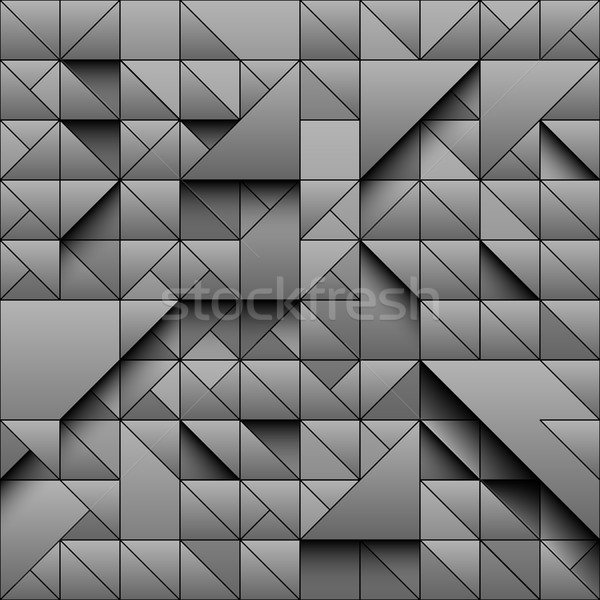 Gris triangle géométrique 3D design Photo stock © Iaroslava