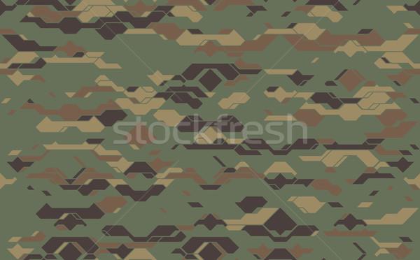 Bezszwowy nowoczesne armii kamuflaż tkaniny tekstury Zdjęcia stock © Iaroslava