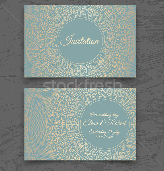 Klasszikus esküvői meghívó névjegy sablonok borító terv Stock fotó © Iaroslava