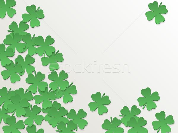 Beyaz gün yonca yeşil kâğıt kesmek Stok fotoğraf © Iaroslava