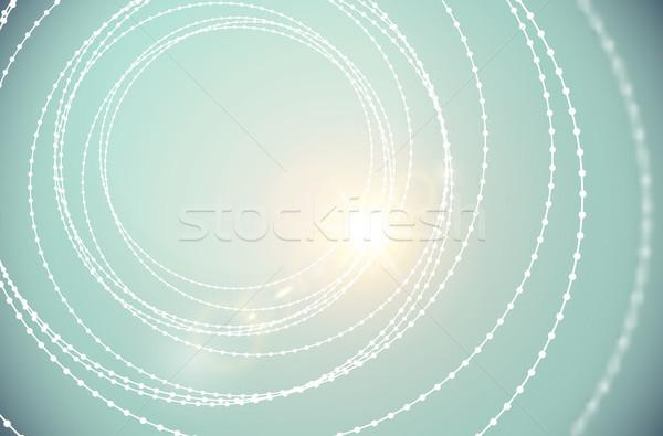 Wektora tunelu drutu sieczka spirali struktury Zdjęcia stock © Iaroslava