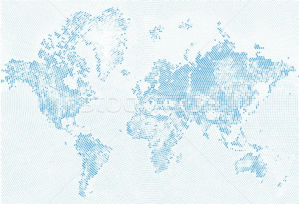 Résumé pointillé carte bleu blanche en demi-teinte Photo stock © Iaroslava