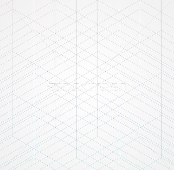 Geometric thin line white background. Simple graphic print. Vector modern minimalistic style Stock photo © Iaroslava