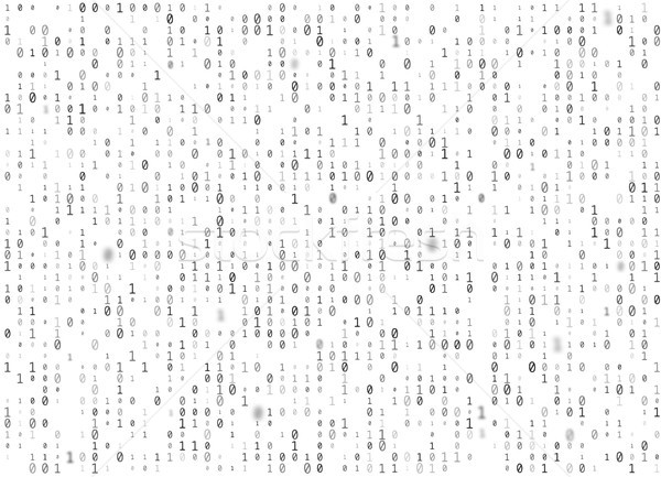 Vector binary code white seamless background. Big data and programming hacking, decryption Stock photo © Iaroslava