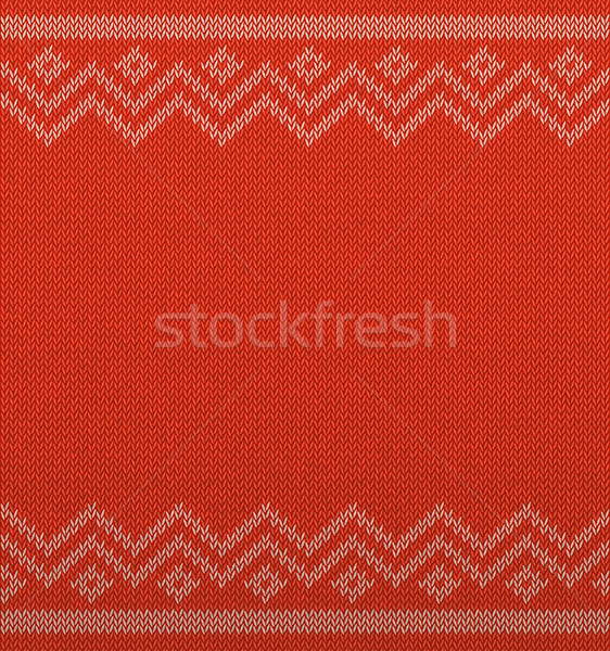 Knit christmas geometric background space for text. Realistic xmas horizontal seamless vector Stock photo © Iaroslava