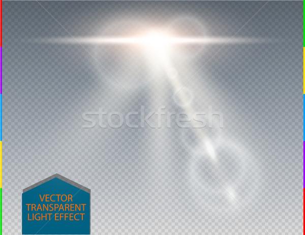 Foto stock: Vector · blanco · horizonte · transparente · luz