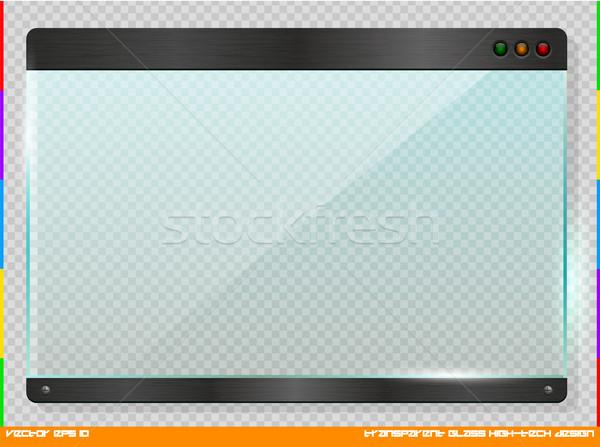 High-tech futuristic design glass plate Stock photo © Iaroslava