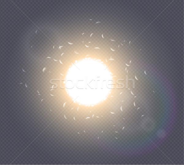 Abstract white explosion spark space modern design. Glow star burst light effect. Supernova Stock photo © Iaroslava