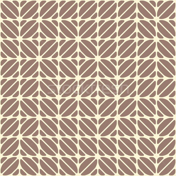 Geometric seamless pattern, looks like coffee beans. Coffee motifs simple pattern. Cocoa and vanilla Stock photo © Iaroslava