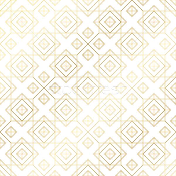 Geometric seamless pattern background. Simple graphic print. Vector repeating line texture Stock photo © Iaroslava