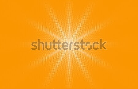 Comic yellow background dotted gradient halftone pop art retro style design. Shine star or sun Stock photo © Iaroslava