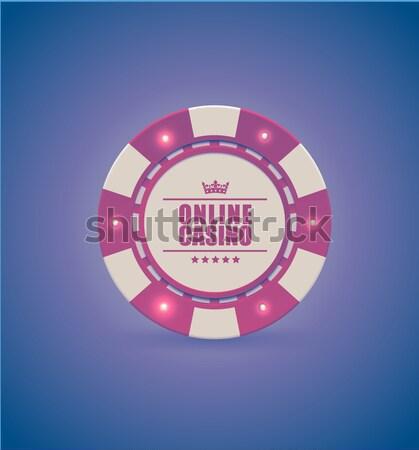 Vettore rosso bianco casino poker chips luce Foto d'archivio © Iaroslava