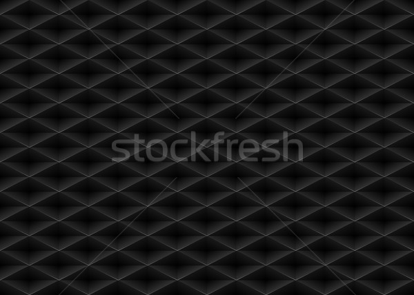 Vector black embossed pattern plastic grid seamless background. Diamond shape cell endless texture.  Stock photo © Iaroslava