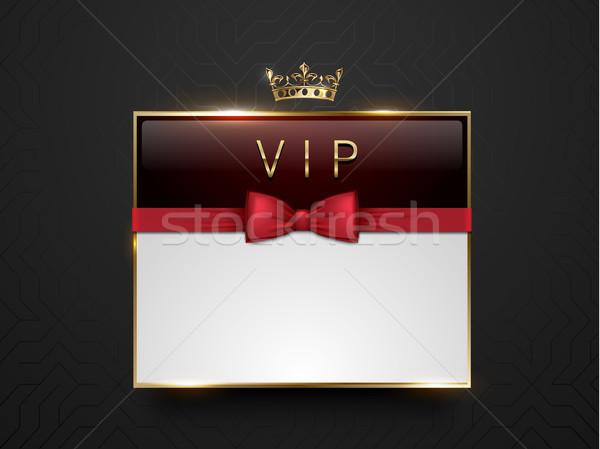 Vip 暗い 赤 ガラス ラベル ストックフォト © Iaroslava