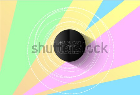 Soyut vektör geometrik renk model beyaz Stok fotoğraf © Iaroslava