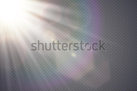 Vector transparent sunlight special lens flare. Abstract diagonal sun translucent light effect Stock photo © Iaroslava