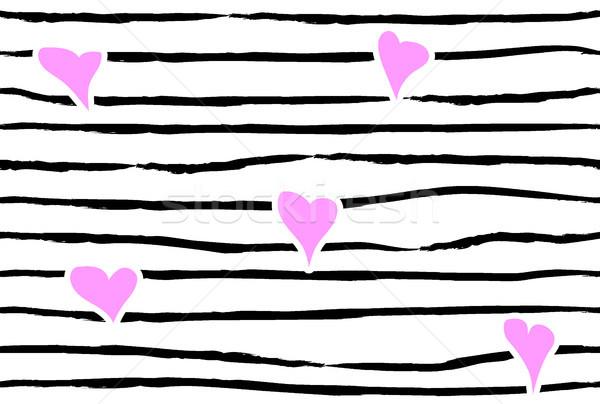 Rosa confetti cuore strisce senza soluzione di continuità amore Foto d'archivio © Iaroslava