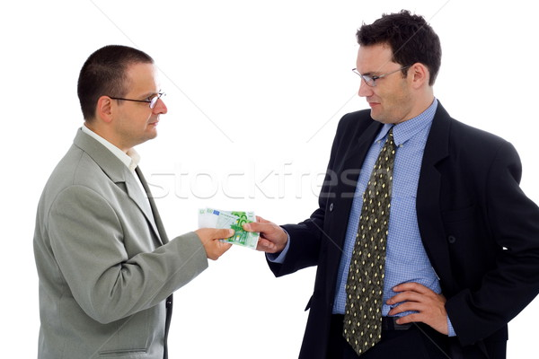 Stock photo: Receiving payment