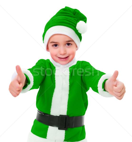 ma y zielone christmas ch opca zdj cia stock. Black Bedroom Furniture Sets. Home Design Ideas