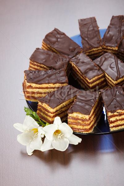 Ver vários bolo de chocolate bolo Foto stock © icefront