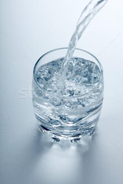 Víz folyik üveg tiszta folyadék friss Stock fotó © icefront