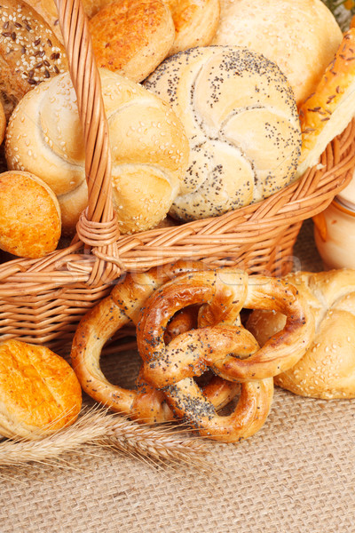 Various baked products in wicker basket Stock photo © icefront