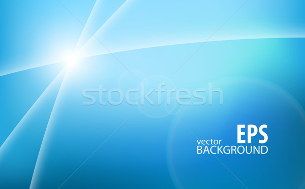 Light trails on blue background Stock photo © icefront