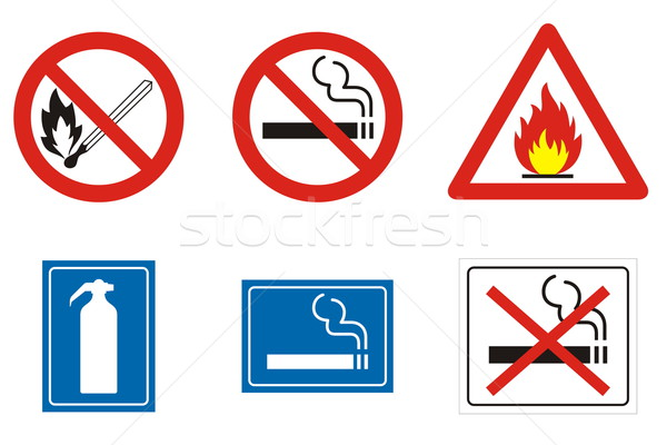 Fire signs and symbols Stock photo © icefront