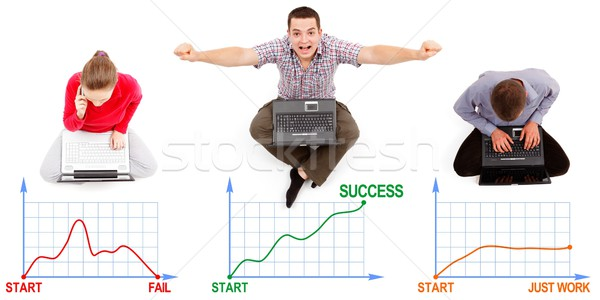 Fail, success and endless work Stock photo © icefront