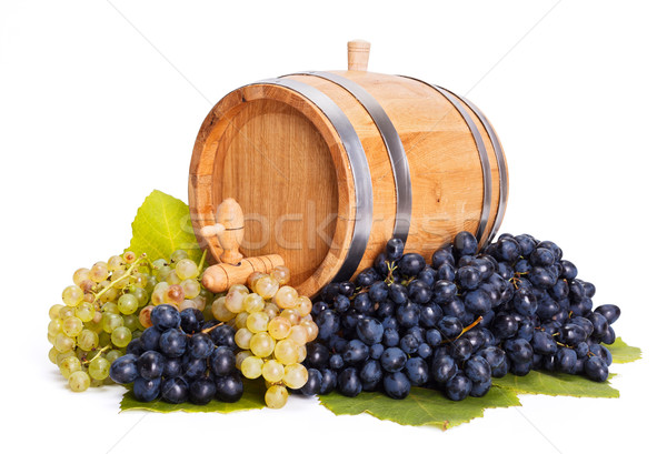 Small barrel in a bunch of grapes Stock photo © icefront