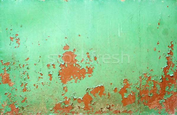 ストックフォト: さびた · 金属の質感 · テクスチャ · 壁 · 背景 · 緑