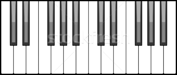Piano keyboard Stock photo © icefront
