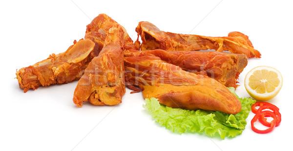 辛い 薫製 豚肉 骨 肉 ストックフォト © icefront