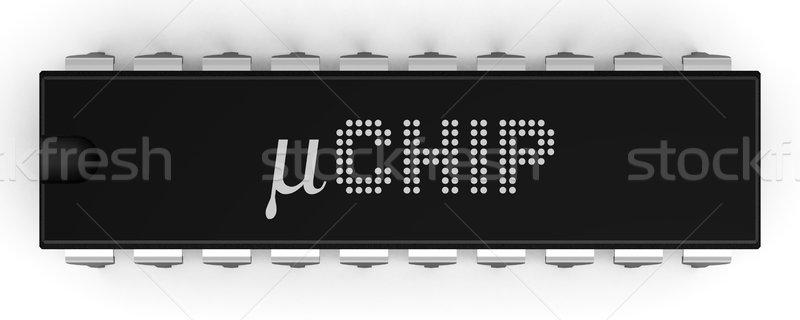 Micro chip illustrazione pacchetto alto Foto d'archivio © icefront
