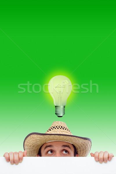 Man having an idea Stock photo © icefront
