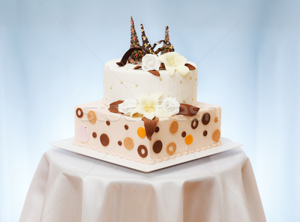 Wedding cake with flower Stock photo © icefront