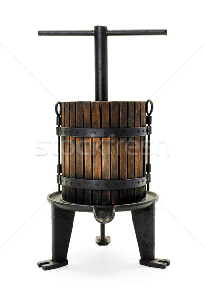 Traditional manual grape pressing utensil Stock photo © icefront