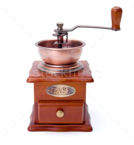 Kahve öğütücü eski moda kafe beyaz Stok fotoğraf © icefront